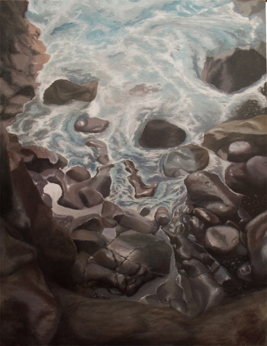 detail rocks and water Lanzarote