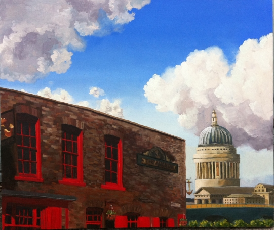 London views. Oil on canvas.