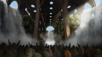 Pagan's temple concept paint