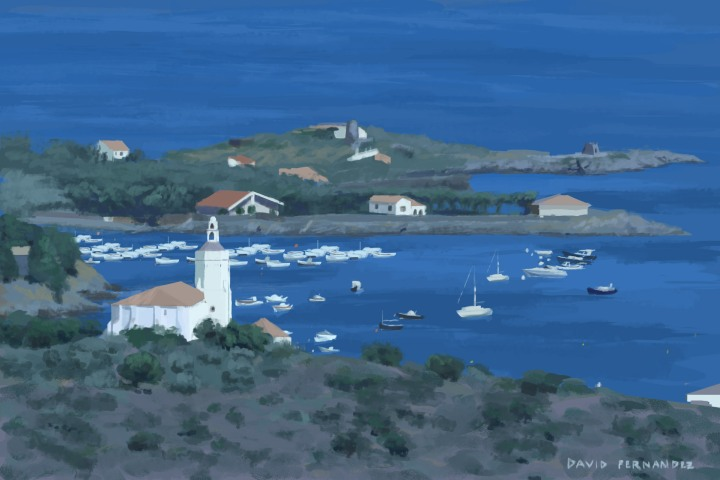 Cadaques digital sketch.