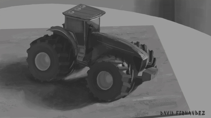 kid's toys 03, still life value sketch.
